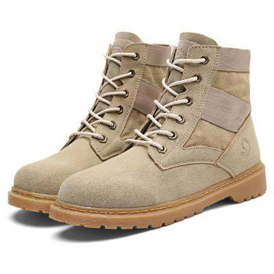 Männlich Solid Color Medium Top Outdoor Martin Stiefel