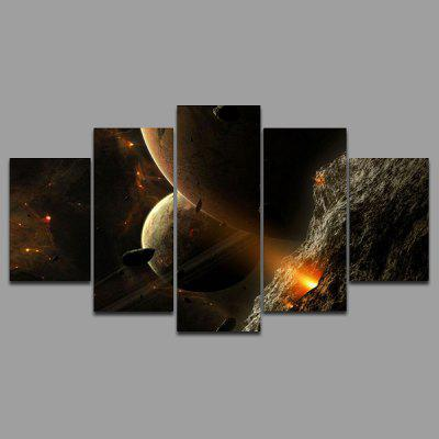 Buy COLORMIX YSDAFEN 5PCS Cool Starry Sky Canvas Print for $55.37 in GearBest store