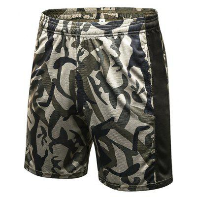 Elastic Pattern Breathable Shorts for Men