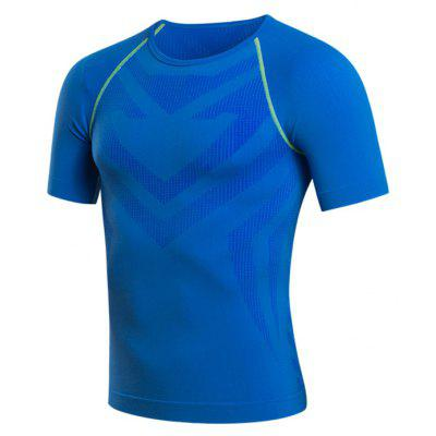 Sports Elastic Breathable Short Sleeves Tee for Men