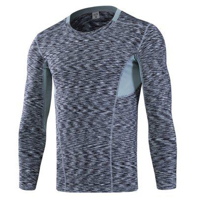 Tight Elastic Breathable Long Sleeves Tee for Men
