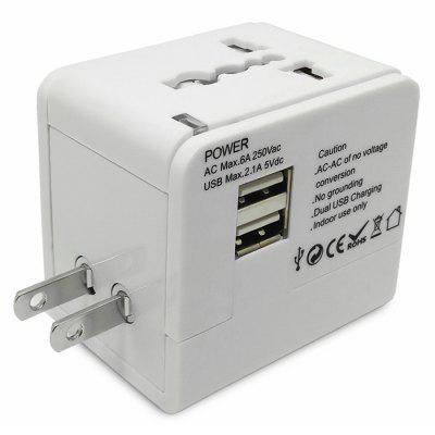 Multinational Travel Power Adapter Wall Charger