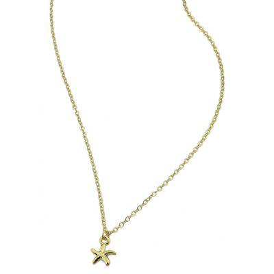 Buy GOLDEN Trendy Alloy Star Pendant Chain Women Necklace for $2.44 in GearBest store