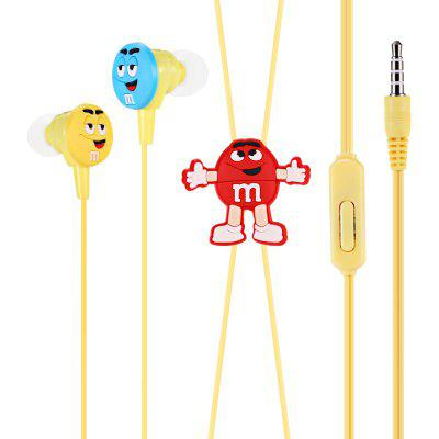 Y06 Cartoon 3.5mm verdrahtet In-Ear Stereo Ohrhörer mit Mic