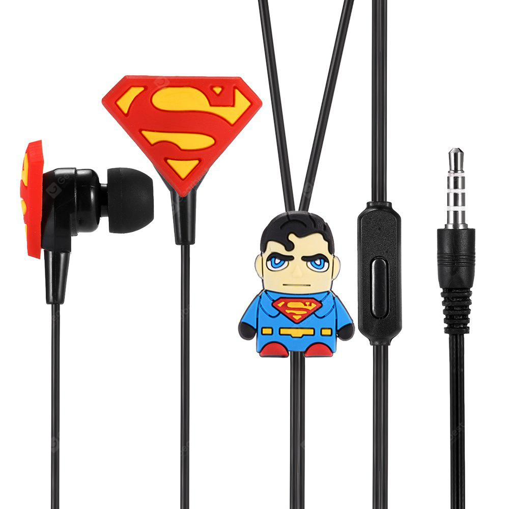 Y01 Cartoon 3.5mm Wired In-ear Stereo Earphones with Mic