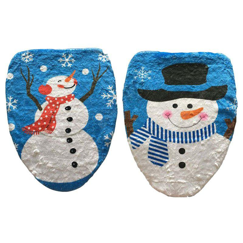 MCYH 1pc Cute Snowman Toilet Seat Cover