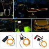 BRELONG 2m DC 12V Yellow EL LED Neon Cold Strip Light - YELLOW