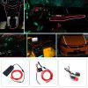 BRELONG 2m DC 12V Red EL LED Neon Cold Strip Light - CZERWONY