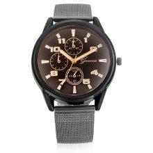Geneva A311 Male Quartz Watch with Leather Band