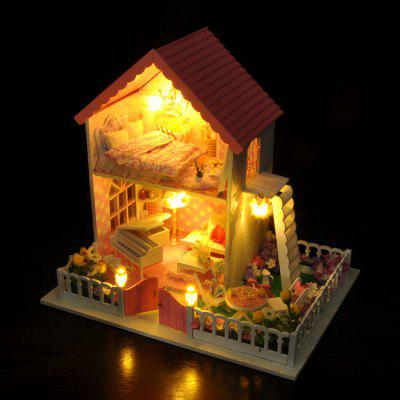 Buy COLORMIX DIY Miniature Wooden Dollhouse Set with Garden for Kids for $55.35 in GearBest store