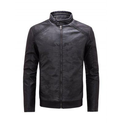 CTSmart PU Leather Fashion Stand Collar JacketMens Jackets &amp; Coats<br>CTSmart PU Leather Fashion Stand Collar Jacket<br><br>Brand: CTSmart<br>Closure Type: Zipper<br>Clothes Type: Jackets<br>Collar: Stand-Up Collar<br>Embellishment: Zippers<br>Materials: PU<br>Package Content: 1 x Jacket<br>Package Dimension: 60.00 x 36.00 x 2.00 cm / 23.62 x 14.17 x 0.79 inches<br>Package weight: 1.0500 kg<br>Pattern Type: Floral<br>Product weight: 1.0100 kg<br>Seasons: Autumn,Spring,Winter<br>Shirt Length: Regular<br>Sleeve Length: Long Sleeves<br>Style: Fashion<br>Thickness: Medium thickness