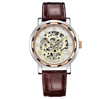 MG.ORKINA 002 Retro Leather Band Men Mechanical Watch