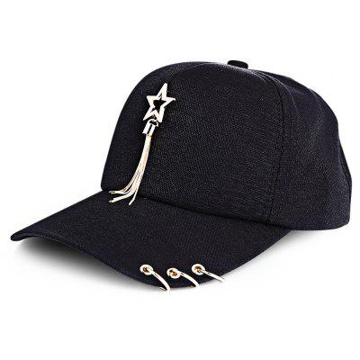 Female Anti-UV Leisure Sun Hat Baseball Cap with Metal Tassel