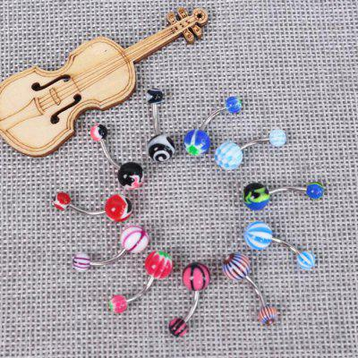 20PCS Colorful Belly Button Rings Navel Piercing Jewelry