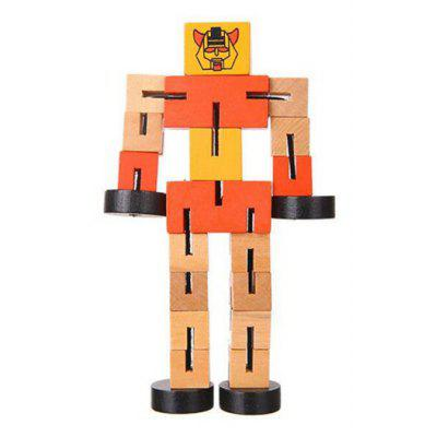 Educational Toys Multifunctional Wooden Robots