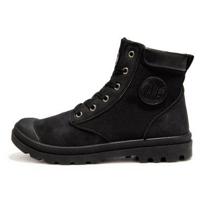 Male Stylish Chic Street High Top Casual Martin BootsMens Boots<br>Male Stylish Chic Street High Top Casual Martin Boots<br><br>Closure Type: Lace-Up<br>Contents: 1 x Pair of Shoes<br>Function: Slip Resistant<br>Materials: Rubber, Fabric<br>Occasion: Tea Party, Sports, Shopping, Outdoor Clothing, Office, Holiday, Daily, Casual, Riding<br>Outsole Material: Rubber<br>Package Size ( L x W x H ): 33.00 x 24.00 x 13.00 cm / 12.99 x 9.45 x 5.12 inches<br>Package Weights: 0.90kg<br>Pattern Type: Solid<br>Seasons: Autumn,Spring<br>Style: Modern, Leisure, Fashion, Comfortable, Casual<br>Toe Shape: Round Toe<br>Type: Boots<br>Upper Material: Cotton Fabric