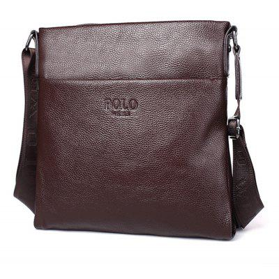 Men Leisure Shoulder Bag de couro simples