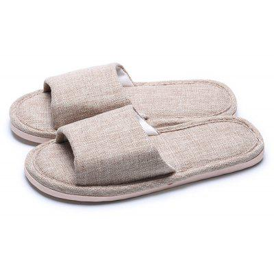Male Breathable Home Anti Slip Solid Color Slippers