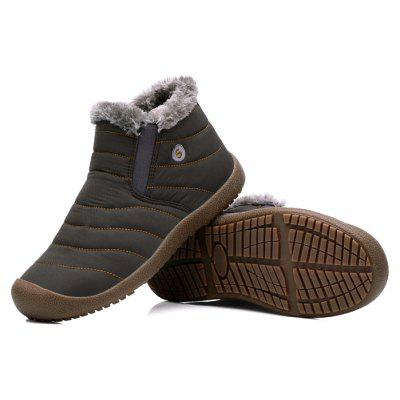 Male Thickened Warm Plush Casual Ankle Boots