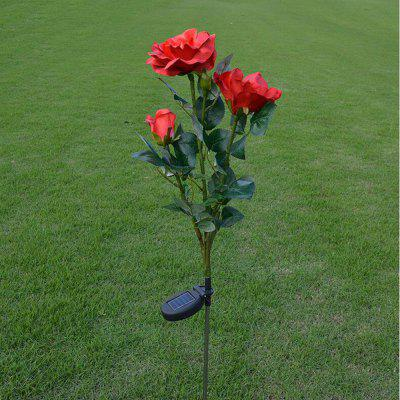 Brelong al aire libre decoración solar Powered Rose Light