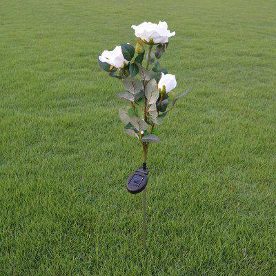 Brelong Outdoor Decor Solar Powered Rose Light