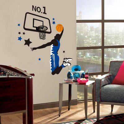 Buy COLORMIX Creative DIY Removable Cartoon Basketball Wall Sticker for $9.09 in GearBest store