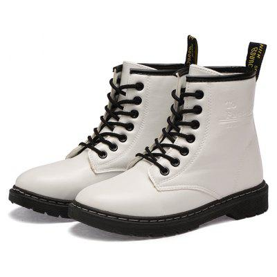 Female Chic Wearable Soft Casual Leather Martin Boots