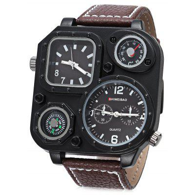 Buy BROWN SHI WEI BAO J1169 Men Fashion Double Movt Watch for $15.87 in GearBest store