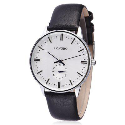 Buy Longbo 80070 Male Quartz Watch with Leather Band, WHITE AND BLACK, Watches & Jewelry, Men's Watches for $14.55 in GearBest store