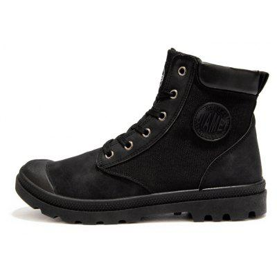 Male Stylish Chic Street High Top Casual Martin BootsMens Boots<br>Male Stylish Chic Street High Top Casual Martin Boots<br><br>Closure Type: Lace-Up<br>Contents: 1 x Pair of Shoes<br>Function: Slip Resistant<br>Materials: Rubber, Fabric<br>Occasion: Tea Party, Sports, Shopping, Riding, Office, Holiday, Daily, Casual, Outdoor Clothing<br>Outsole Material: Rubber<br>Package Size ( L x W x H ): 33.00 x 24.00 x 13.00 cm / 12.99 x 9.45 x 5.12 inches<br>Pattern Type: Solid<br>Seasons: Autumn,Spring<br>Style: Leisure, Modern, Fashion, Comfortable, Casual<br>Toe Shape: Round Toe<br>Type: Boots<br>Upper Material: Cotton Fabric