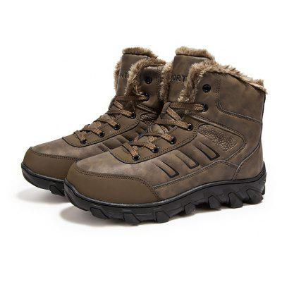 Masculino Outdoor Thickened Warm Anti Slip Ankle Boots