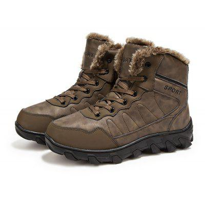 Masculino Outdoor Thickened Warm Hiking Ankle Boots