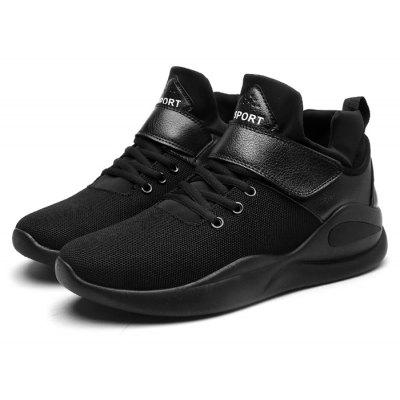 Buy BLACK 39 Male Stylish Breathable Lace Running Sports Sneakers for $30.42 in GearBest store