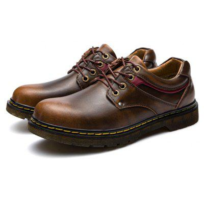 Masculino Stylish Smoky Color Casual Leather Shoes