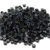Buy 505mm Silicone Lined Micro Rings Links Beads Hair Extensions BLACK