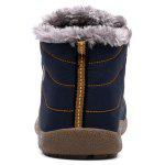 Male Thickened Warm Plush Casual Ankle Boots - BLUE