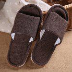 Male Breathable Home Anti Slip Solid Color Slippers - COFFEE