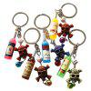 1pc Creative Keychain with Skull Head and Bottle Design Pendant - COLORMIX