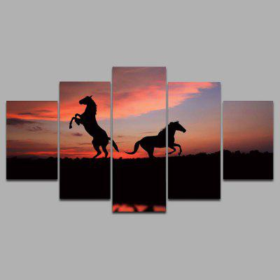 Buy COLORMIX 5PCS YSDAFEN Horses Framed Decorative Canvas Print for $55.37 in GearBest store