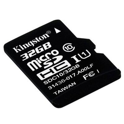 Original Kingston Micro SDHC UHS-1 Memory CardMemory Cards<br>Original Kingston Micro SDHC UHS-1 Memory Card<br><br>Brand: Kingston<br>Certificate: CE,FCC<br>Class Rating: Class 10<br>Memory Capacity: 32G<br>Memory Card Type: Micro SDHC<br>Package Contents: 1 x Original Kingston Micro SDHC UHS-1 Memory Card<br>Package size (L x W x H): 11.50 x 10.20 x 1.10 cm / 4.53 x 4.02 x 0.43 inches<br>Package weight: 0.0290 kg<br>Product size (L x W x H): 1.60 x 1.20 x 0.10 cm / 0.63 x 0.47 x 0.04 inches<br>Product weight: 0.0010 kg<br>Read Speed: 80MB/s<br>Support 4K Video Recording: No<br>Type: Memory Card<br>UHS Speed Class: UHS-1