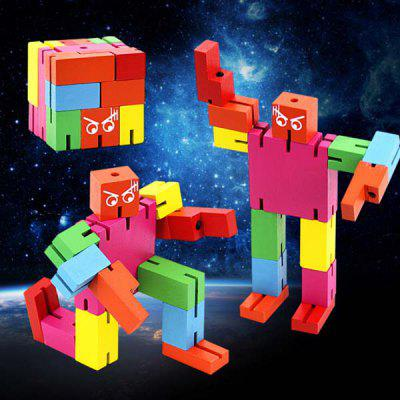 Magic Cube Style Robot Intelligence ToyOther Educational Toys<br>Magic Cube Style Robot Intelligence Toy<br><br>Age: 7 Years+<br>Applicable gender: Unisex<br>Design Style: Cartoon<br>Features: DIY, Decoration, Educational<br>Gender: Unisex<br>Material: Wood<br>Package Contents: 1 x Wooden Robot<br>Package size (L x W x H): 6.00 x 6.00 x 6.00 cm / 2.36 x 2.36 x 2.36 inches<br>Package weight: 0.2100 kg<br>Product size (L x W x H): 6.00 x 4.00 x 20.00 cm / 2.36 x 1.57 x 7.87 inches<br>Product weight: 0.2000 kg<br>Small Parts: Yes<br>Type: Intelligence toys<br>Washing: No