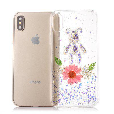 TPU Material Flower Bear Pattern Phone Case for iPhone XiPhone Cases/Covers<br>TPU Material Flower Bear Pattern Phone Case for iPhone X<br><br>Compatible for Apple: iPhone X<br>Features: Back Cover<br>Material: TPU<br>Package Contents: 1 x Phone Cover Case<br>Package size (L x W x H): 16.00 x 8.00 x 2.00 cm / 6.3 x 3.15 x 0.79 inches<br>Package weight: 0.0380 kg<br>Product size (L x W x H): 14.80 x 7.00 x 1.00 cm / 5.83 x 2.76 x 0.39 inches<br>Product weight: 0.0280 kg<br>Style: Pattern, Modern