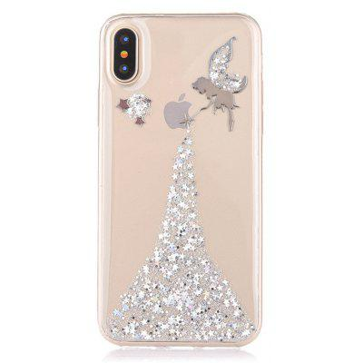 Cover Stile Donna Angelo in TPU per Iphone X