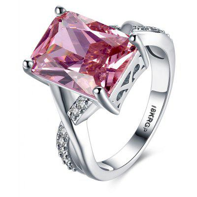 Buy PINK 7 Pink Diamond Eight Heart Four Claws Ring for $4.80 in GearBest store
