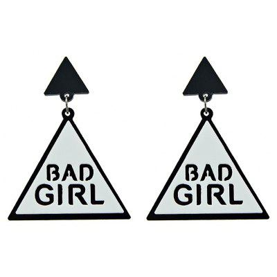 Creative Women Acrylic Triangle Stud Earrings