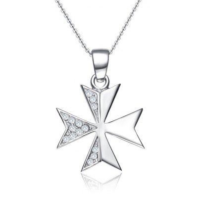 SH STARHARVEST N - 0085 Silver Clover Pendant Necklace