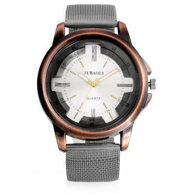 Jubaoli A2010 Fashion Male Quartz Watch with Mesh Band