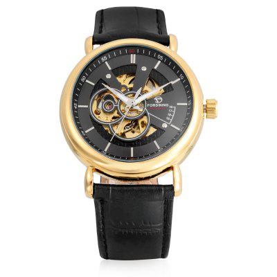 Forsining A726 Business Leather Band Men Mechanical WatchMens Watches<br>Forsining A726 Business Leather Band Men Mechanical Watch<br><br>Band material: Leather<br>Band size: 24 x 2cm<br>Case material: Alloy<br>Clasp type: Pin buckle<br>Dial size: 4.1 x 4.1 x 1.2cm<br>Display type: Analog<br>Movement type: Mechanical watch<br>Package Contents: 1 x Watch<br>Package size (L x W x H): 26.00 x 6.10 x 3.20 cm / 10.24 x 2.4 x 1.26 inches<br>Package weight: 0.0840 kg<br>Product size (L x W x H): 24.00 x 4.10 x 1.20 cm / 9.45 x 1.61 x 0.47 inches<br>Product weight: 0.0640 kg<br>Shape of the dial: Round<br>Watch mirror: Acrylic<br>Watch style: Business<br>Watches categories: Men<br>Wearable length: 18.5 - 23.5cm