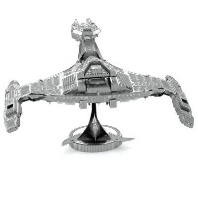 Buy 3D Metal Puzzle Sci-Fi Spacecraft Model Toy SILVER for $2.41 in GearBest store