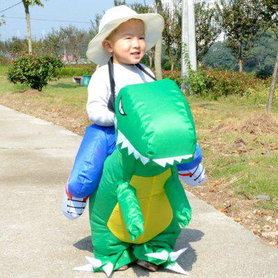 Kids Ride Dinosaur Shaped Inflatable Costume